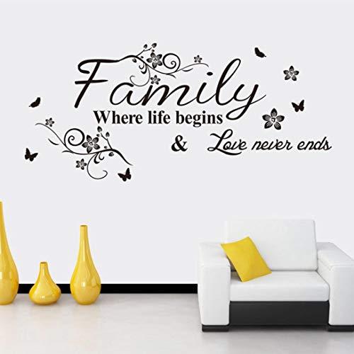 Uteruik Familien-schöne Blumen-Wand-Aufkleber -
