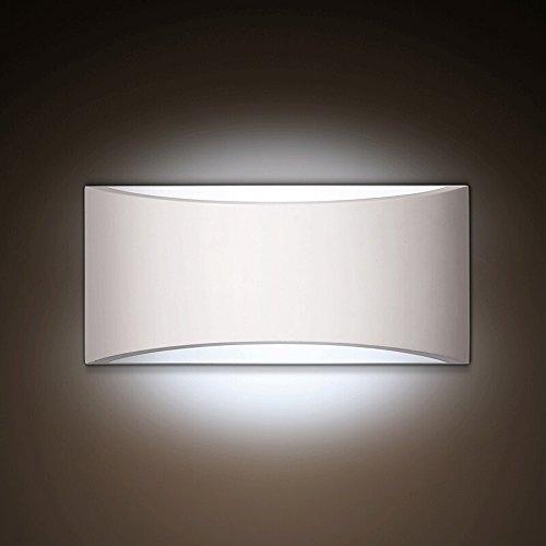 Eye Protection LED Mini Wandleuchte, Nordic White Gips Eisen Wand Hängelampe Moderne minimalistische Cafe Esszimmer Schlafzimmer Wandleuchte Kreative Persönlichkeit Wohnzimmer Studie kleine Wandleuchte