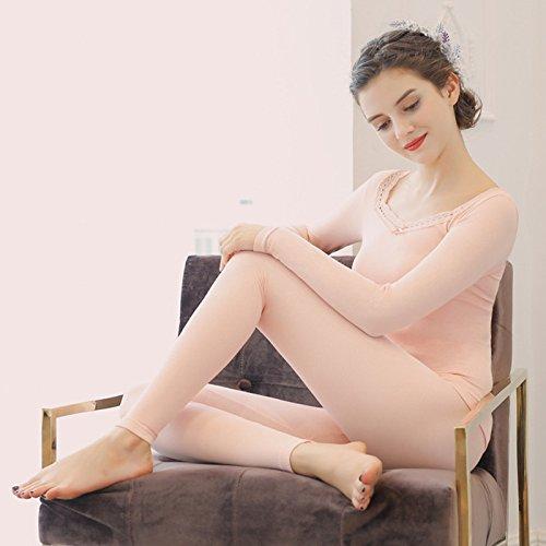 n Pyjama Heiße für Frauen Unterwäsche Enge Herbst und Winter Qiuku Kostüm warme Kleidung ()
