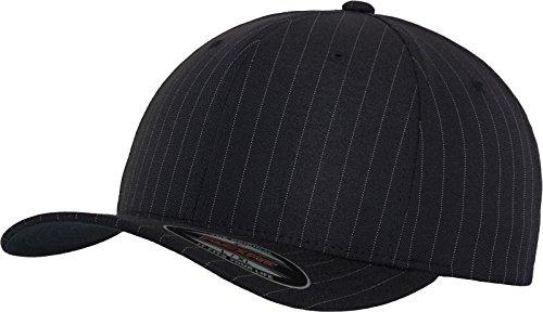 Navy Wool Cap (Flexfit Erwachsene Mütze Pinstripe, Navy/Wht, L/XL)