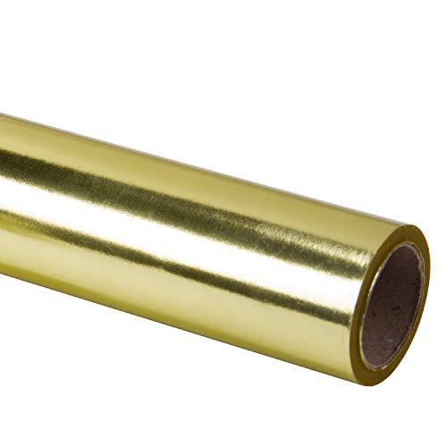 RUSPEPA Gold Metallic Wrapping Paper-Solid Color Papier perfekt für Hochzeit, Geburtstag, Weihnachten, Baby Show Geschenke-76M X 10M
