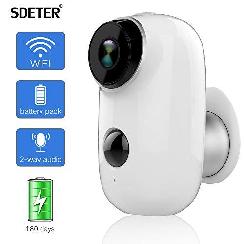 SDETER Outdoor-Überwachungskamera, kabelloses, batteriebetriebenes Überwachungssystem, 1080P, WiFi IP-HD-CCTV-Videohaus - Link-20-batterie-monitor