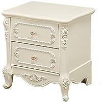 Preisvergleich für Small coffee table Nachttisch Multifunktionsspeicher Stauraum Sofa Beistelltisch, leicht zu Reinigen mit Schubladen weiß, Drei Größen erhältlich