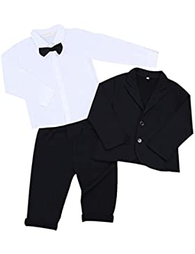 iEFiEL Conjunto de Tres Piezas para Bebé Niño (6 Meses-5 Años) Camisa de Manga Larga + Chaqueta + Pantalones Traje...
