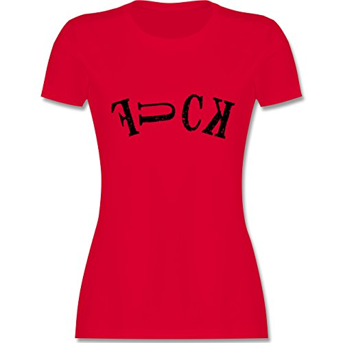 Statement Shirts - FUCK - tailliertes Premium T-Shirt mit Rundhalsausschnitt für Damen Rot