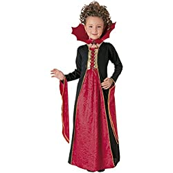 Halloween - Disfraz de Vampiresa gótica para niña, Talla M infantil 5-7 años (Rubie's 881029-M)