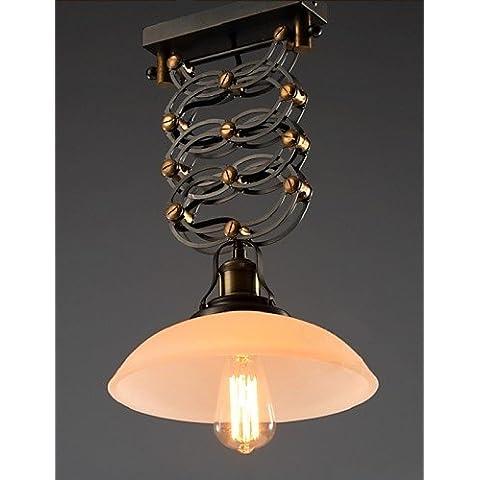 Campagna in stile loft luce pendente in ferro battuto di luce a forbice Coffee Shop decorazione barre di luce Luce , 90V-240V