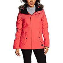 O 'Neill Chaqueta de esquí PW Señal Jacket, otoño/invierno, mujer, color Poppy Red, tamaño S
