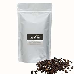 BIO-Pfeffer schwarz (Pfefferkörner ganz) Pfeffermühlen geeignet – 250g von Azafran®