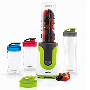 Breville Blend Active Personal Blender & Smoothie Maker   ColourMix Family   4 x Portable Blending Bottles (600 ml   300 ml)   300 W [VBL240]