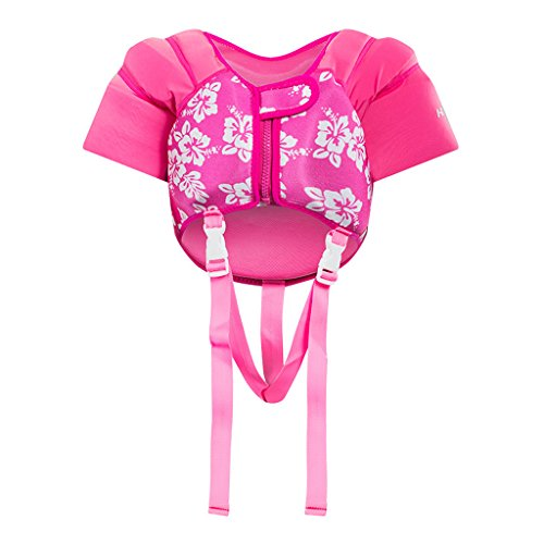 Jahre Alt Schwimmen 2 Kostüm - Hony Kinder Schwimmweste - Kleinkind Bademode Schwimmtraining Jacke zum 1-5 Jahre alt Jungen Mädchen Schwimmen Lernen Unisex Blau Rosa