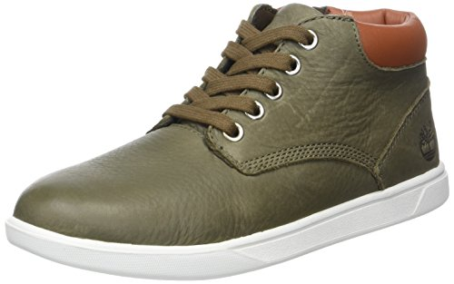 Timberland Groveton Leather Chukkacanteen Escape Full Grain, Bottes Chukka Mixte Enfant, Vert (Canteen Escape Full Grain), 36 EU