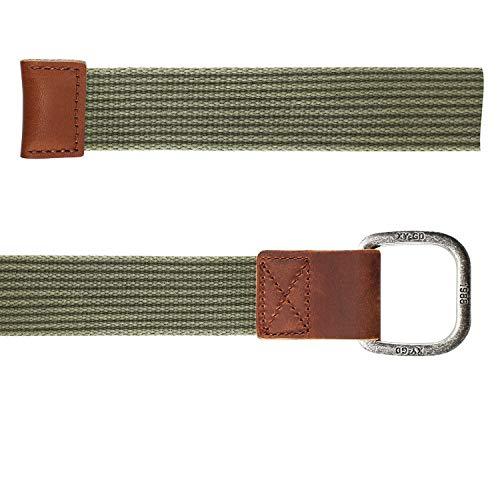 ITIEZY Cintura Uomo In Tela Fibbia Metallo Militare Tattica Sportiva Casual Moda Grigio Blu 110//120//130cm