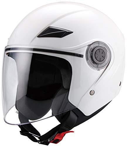 Jethelm Helm Motorradhelm RALLOX 702 weiß mit Langvisier Größe L