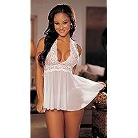 Transparente, Negro, Encaje, pijama, ropa interior, para mujer, vestido, uniforme, color, hogar, decoración, blanco