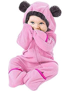 kinder jumpsuit jungen mädchen overall jogger anzug vine baby schneeanzüge winter kapuze fleece strampler footed...