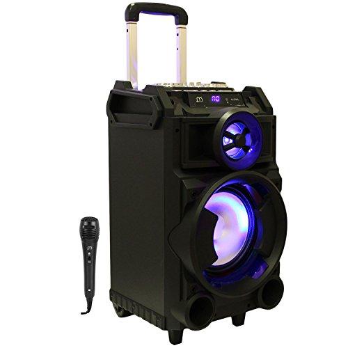 Streetstar Equipo hifi de audio,altavoz Karaoke amplificad potencia máxima 400W• Bluetooth • Puerto USB y SD reproductor MP3 •2 entrada micrófono