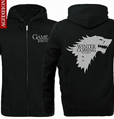 A Game of Thrones A Song of Ice and Fire House Stark of Winterfell Overcoat Hoody