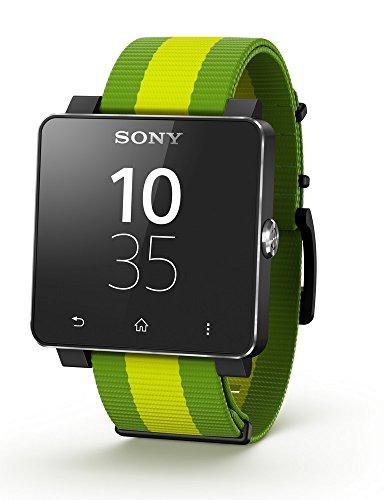 Sony Mobile - SmartWatch 2 - Montre Bluetooth/NFC pour Smartphone Android 4.0 - Bracelet en Silicone - Motif Fifa - Noir