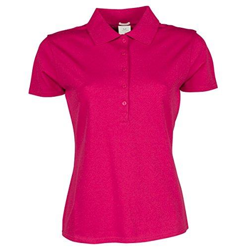 Tee Jays Damen Luxury Stretch Polo-Shirt, Kurzarm Hot Pink
