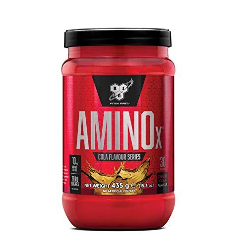 BSN Amino X Verzweigtkettige Aminosäuren (mit Vitamin D, Vitamin B6, Taurin, Alanin und Arginin, BCAA-Pulver von BSN) cherry cola, 30 Portionen, 435g