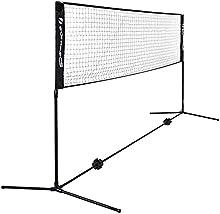 Songmics 5 m de largo Red de tenis bádminton Portátil Tamaño estándar para partido de individuales SYQ500H