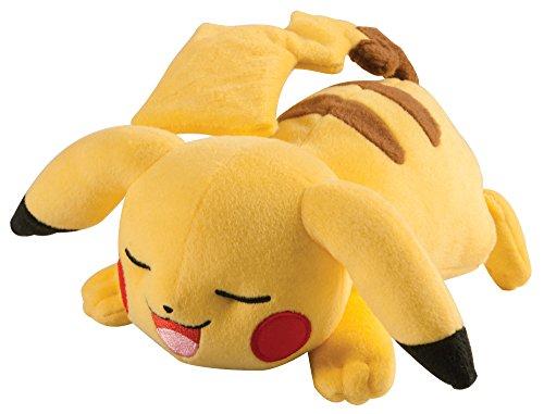 schlafende Pose - hochwertiges Pokémon Stofftier - zum Spielen und Sammeln - ab 3 Jahre (Pikachu Ohren Und Schwanz)