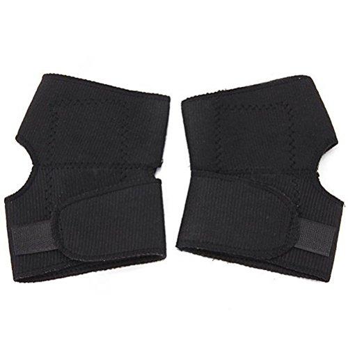 Preisvergleich Produktbild Pixnor Halterung Magnetische Kniebandage Bandage thermischen self-heating Ellenbogen Pad Gurt (schwarz)