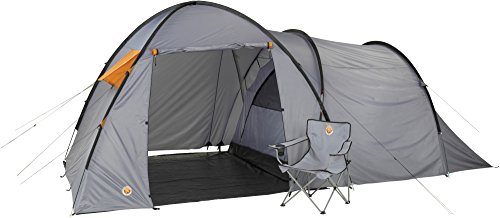 Grand Canyon Fraser 3 - Campingzelt (3-Personen-Zelt), grau/orange, 302019