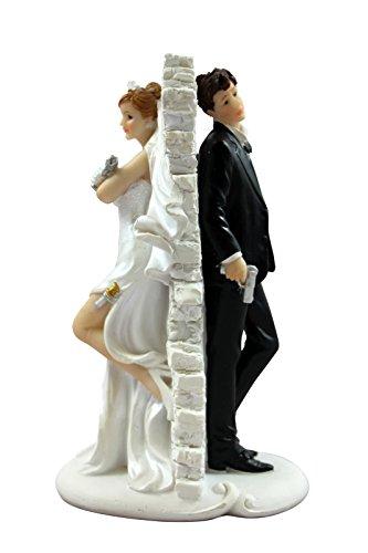 Preis am Stiel 1 x Dekofigur - Mr.&Mrs. Brautpaar mit Schuss   Hochzeitsdeko -