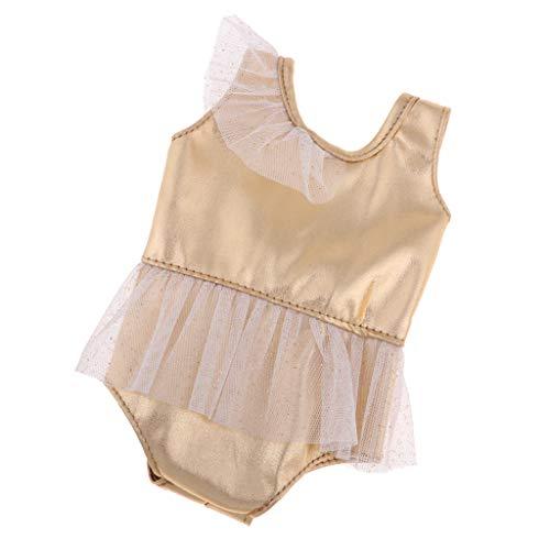 MagiDeal Niedliches Puppe Ballett Tanzkleid, Bikini, T-Shirt & Hosenträger Minirock, Puppenkleidung Set Für 18 '' Doll - # A