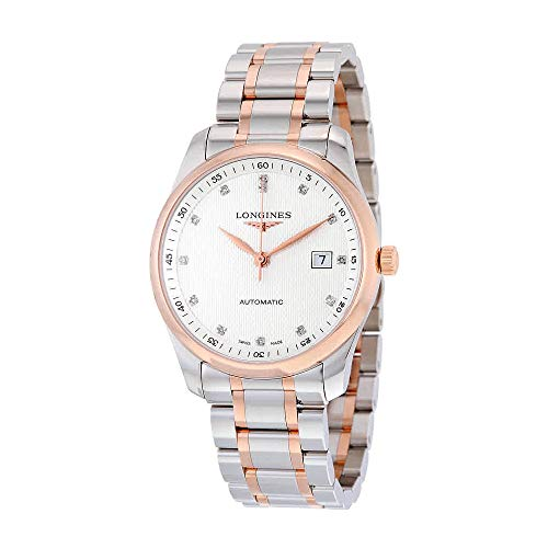 Longines Elegant Silver Diamond Dial Steel and Pink Gold Mens Watch L27935777
