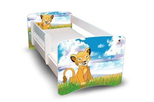 Best For Kids KINDERBETT 70x160 MIT RAUSFALLSCHUTZ (**Kinder**, Löwe)
