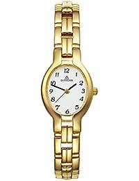 Dugena Damen-Armbanduhr Traditional Classic Analog Quarz Edelstahl beschichtet 1936214