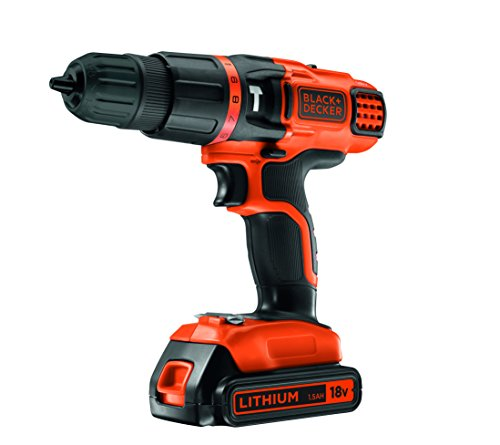 Black & Decker - EGBL188KB Perceuse Visseuse sans Fil 18 V avec 2 Batteries