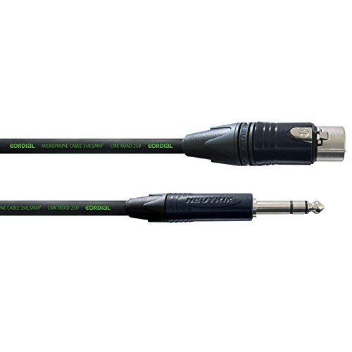 Cordial - CRM 2.5 FV encore Mikrofonkabel XLR female - Klinke stereo 2,5m Neutri