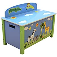 Preisvergleich für LibertyHouseToys Safari Spielzeug-Box, Holz, Mehrfarbig