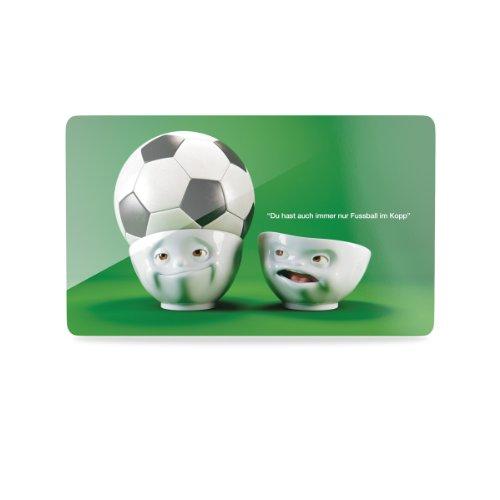 Fußball-schneidebrett (FiftyEight T040111 Schnittenbrettchen Fußball im Kopp WM10, 23 x 14 cm)