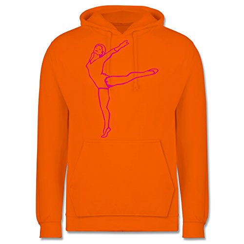 Wellness, Yoga & Co. - Rhythmische Sportgymnastik - XS - Orange - JH001 - Herren Hoodie (Kapuzen-trainingsoutfit)