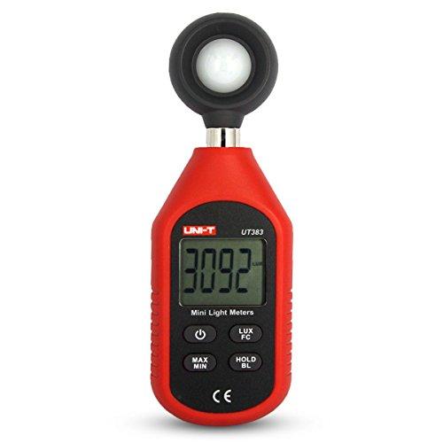 UNI-T UT383 Digital Luxmeter Lichtmesser Beleuchtungsmessgerät LCD Messgerät Helligkeitsmesser 0 Lux