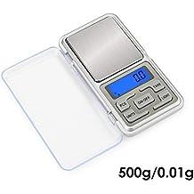 HT-668B 500 g x 0.01 g Mini balanza digital de precisión para oro Escalas de