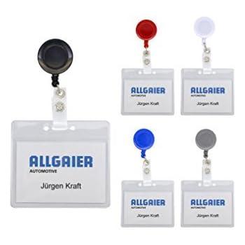 Kartenhalter mit Ausweisjojo  Ausweishülle Querformat Skipasshalter Werksausweis