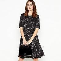 4da150c583 Principles Petite Womens Black Floral Knee Length Petite Skater Dress 12P