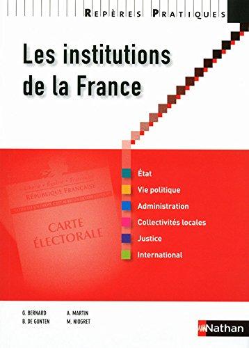 RP INSTITUTIONS DE LA FRANCE N