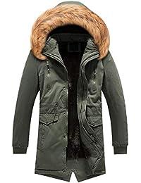 Männer männlich Winter Daunenjacke Mann schlank Lange Graben knöpfe  reißverschluss Mantel Camouflage Windjacke Mode… 64e990d127