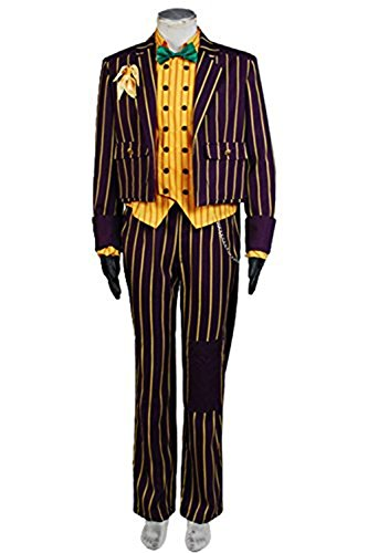 Cosdaddy / Batman Arkham Asylum Joker Coat Suit Cosplay Kostüm (Batman Anzug Arkham)