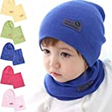 2 : Winter Children 's Hats with Cute for Boys and Girls 1-4 Years Korean Version of The Wave of Pure Warm Knitted Wool Wool Cap