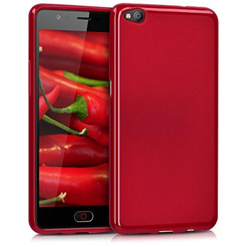 kwmobile ZTE Nubia M2 Lite Hülle - Handyhülle für ZTE Nubia M2 Lite - Handy Case in Rot matt