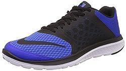 Nike Mens Fs Lite Run 3 Racer Blue, Black and White Running Shoes -7 UK/India (41 EU)(8 US)