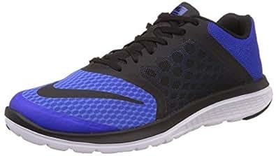 Nike Men's Fs Lite Run 3 Racer Blue, Black and White Running Shoes -10 UK/India (45 EU)(11 US)